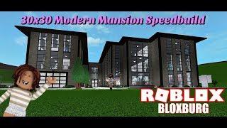 Modern Mansion Speedbuild en utilisant 30x30 parcelle! - Bloxburg - Roblox