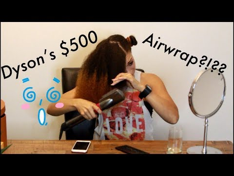 Dyson's $500 Airwrap on NATURAL Hair - Does it work? | Blowout Demo and First Impressions!!