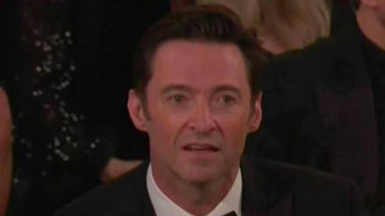 Funny Meme Faces 2018 : Hugh jackman's shocking reaction to james franco's golden globes