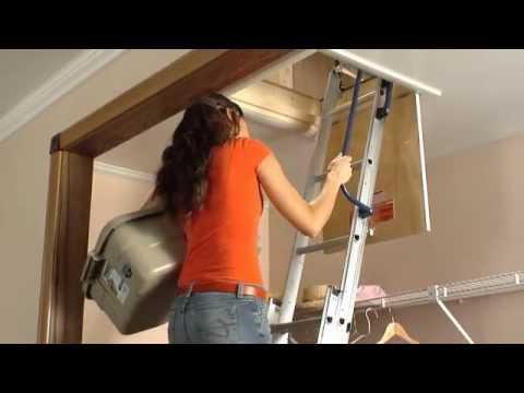 Werner Aluminum Attic Ladder Short Installation Video