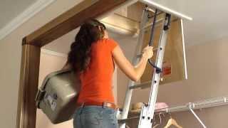 Keller - Compact Attic Ladder - Brief Installation Video