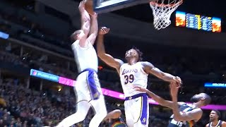 Alex Caruso comes in for the putback dunk | Lakers vs Nuggets