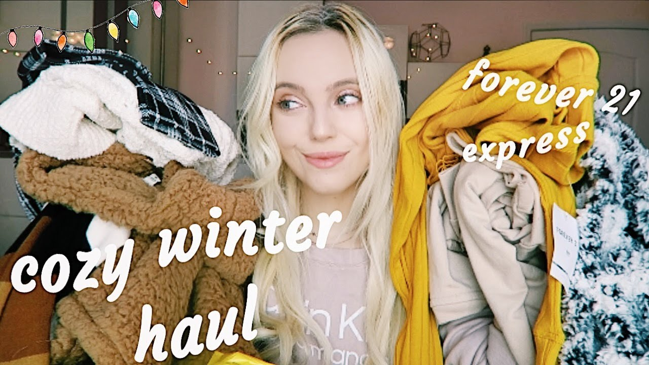 [VIDEO] - HUGE cozy winter mall haul!! so many cute sweaters ❄️🎄 1