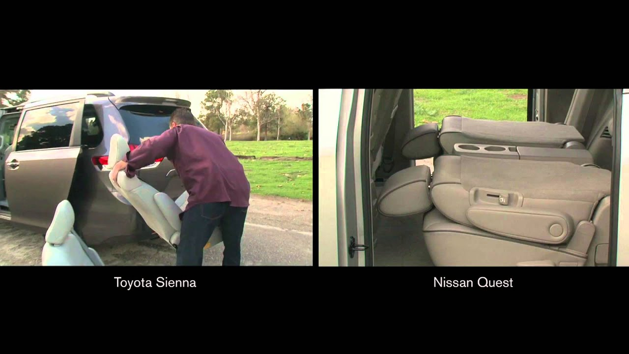 Nissan quest innovative seating system comparison youtube nissan quest innovative seating system comparison vanachro Gallery