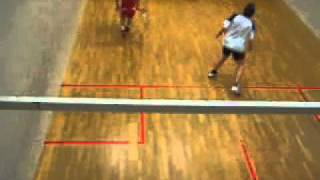 Squash match between Nr.1 in Norway Shohab Hussain and Nr.6 in Norway Audun Thrones
