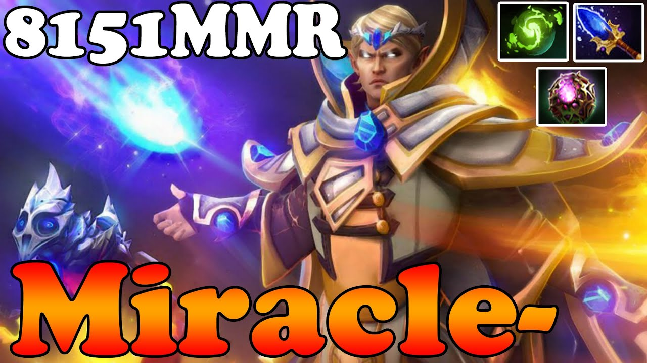 Dota 2 - Miracle- 8151MMR TOP 1 MMR in the World Plays ...