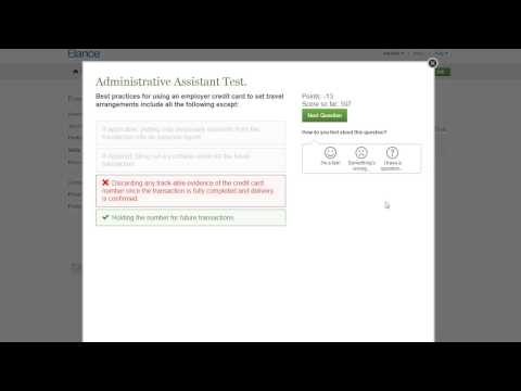 Elance Administrative Support Test Answers 2015