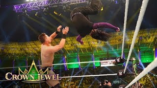 Jeff Hardy takes down The Miz with a Whisper in the Wind: WWE Crown Jewel 2018 (WWE Network)
