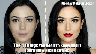 How To Contour and Highlight For Beginners | THE FOUR STEPS YOU NEED TO KNOW!