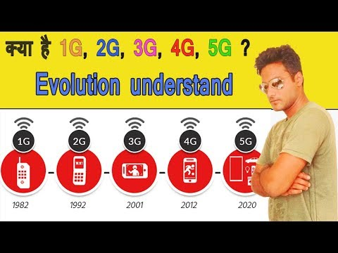 What is 1G, 2G, 3G, 4G & 5G ? (in Hindi)