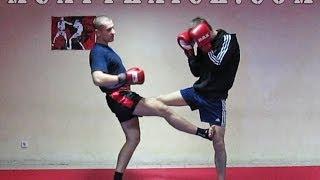 Тайский бокс Секреты - Очень жесткий прием от фронт кика(Видео курс -
