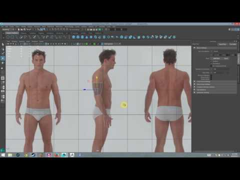 Modeling Human in Maya - Week 05 Torso