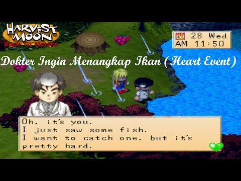 Harvest Moon Back To Nature - dokter ingin menangkap ikan