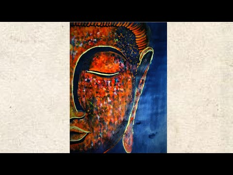 how to draw lord Buddha Painting || water color painting || AB Naveen art