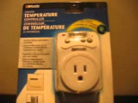 Indoor Temperature Controller Plug In THERMOSTAT For Space Heaters Or Air  Conditioners , Not DIY   YouTube