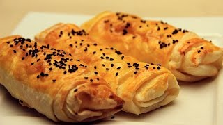 Turkish Borek Recipe - Crispy Turkish Pastry with Feta Cheese