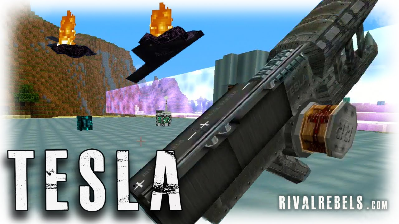 Tesla Gun Mod Minecraft Force Field Reactor Youtube