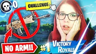 NO WEAPON CHALLENGE! VITTORIA REALE SENZA ARMI E 0 KILL! Fortnite