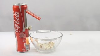 How to Make Popcorn Machine With Coke Can