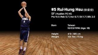 #5 Rui-Hung Hsu(徐睿宏) | 花蓮體中 | 6'0(185cm) | 166 lbs(75kg) | SF | Age:18 thumbnail