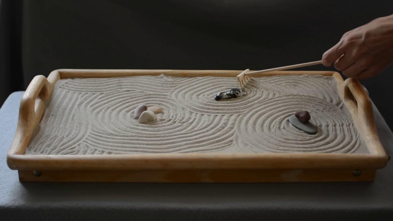 Mini Zen Garden Part - 30: ASMR, Mini Zen Garden #3, Sand Sounds, No Talking