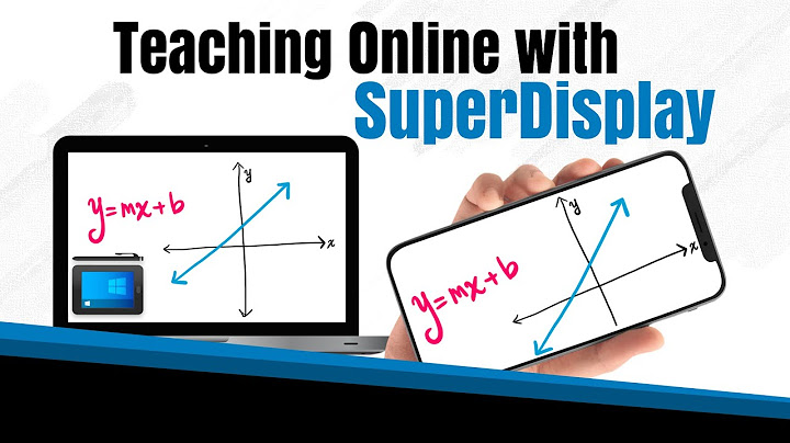 turn your phone into a monitor tablet  superdisplay review for teachers and a giveaway