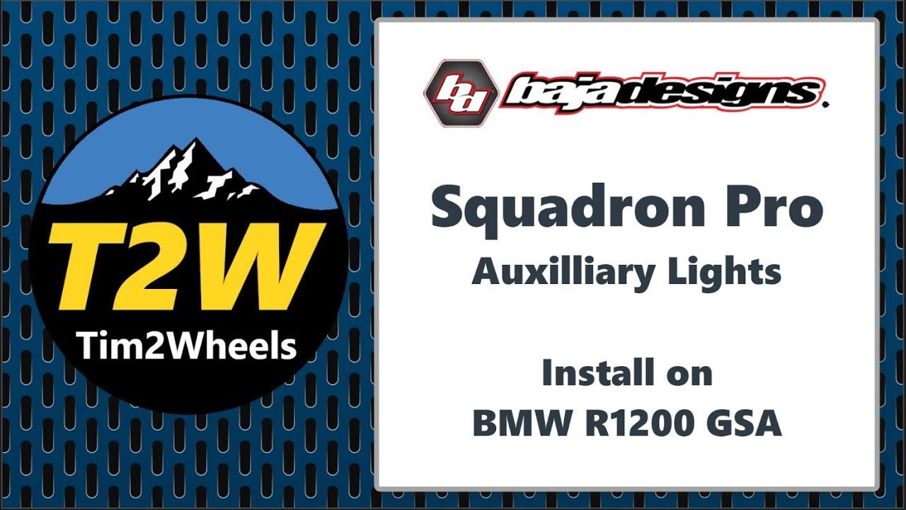 T2w Baja Designs Squadron Pro Lights Install On A Bmw R1200 Gsa Wiring Instructions