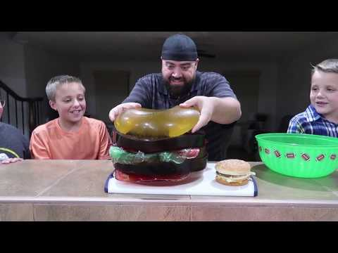 Thumbnail: GIANT GUMMY McDonald's Big Mac Extreme Cheeseburger!!