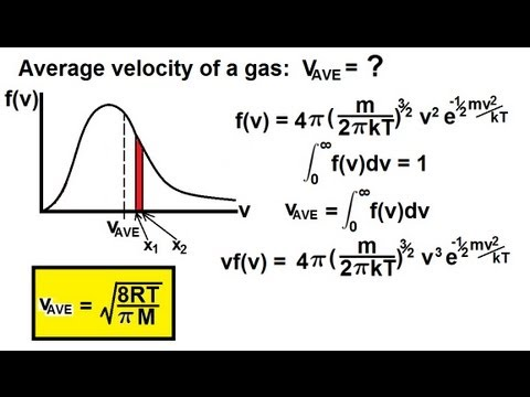 Physics - Thermodynamics: (8 of 10) The Average Velocity of a Gas Molecule