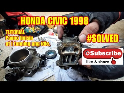 CLEANING IACV OF HONDA CIVIC 1998