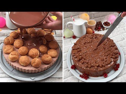 Chocolate Is Always a Good Idea ? Profiterole Pie ? Ice Cream Cake Spiral? Pancake Pie?