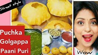Indian Street Style Original Pani Puri Recipe At Home. Golgappa Recipe. Puchka Recipe. Dates chutney