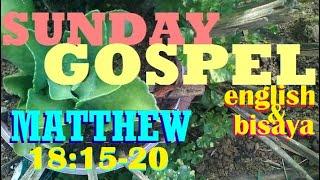 QUOTING JESUS IN  (MATTHEW 18:15-20) IN ENGLISH AND BISAYA LANGUAGES