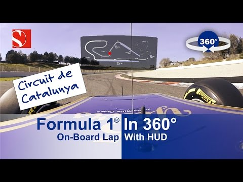 SPECTACULAR: 360° F1 On-Board Lap with HUD - Sauber F1 Team