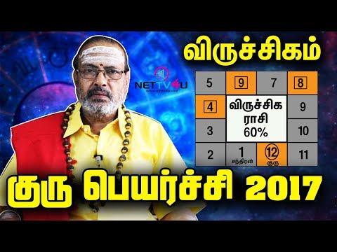 Virichigam Rasi Guru Peyarchi Palangal 2017-2018|Tamil Astrology Predictions| குரு பெயர்ச்சி பலன்கள்