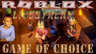 Roblox Live Stream von Steven kommen und spielen und Spaß mit Game of Choice mit Steven!