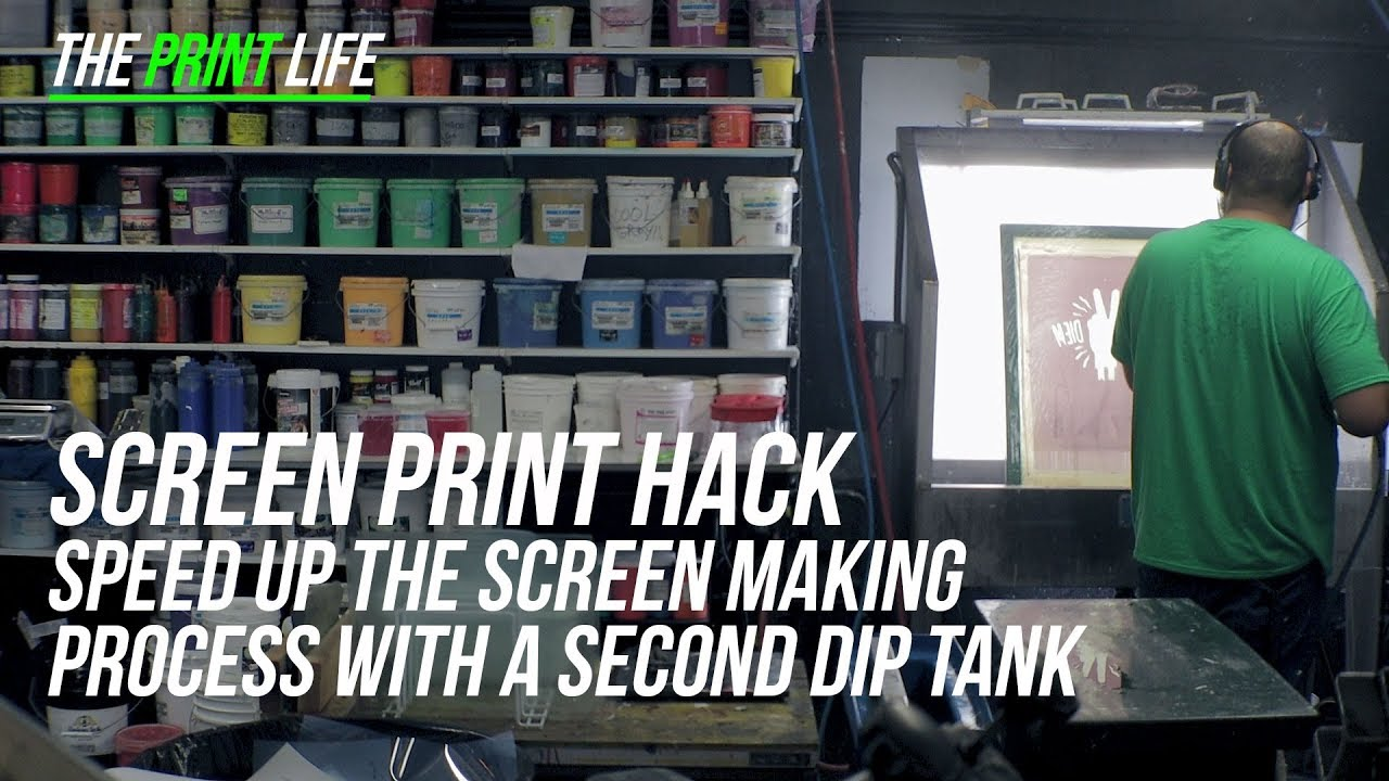 Screen Print Hack | Speed up the Screen Making process with