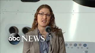 Download lagu Astronaut Christina Koch returns home after 1 year in space | ABC News Prime