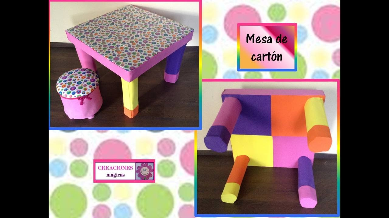 Mesa de carton ideas para reciclar creaciones m gicas youtube - Mesas de carton ...