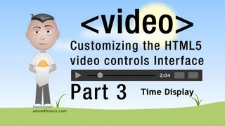 3. HTML5 Custom Video Controls JavaScript Time Programming Tutorial