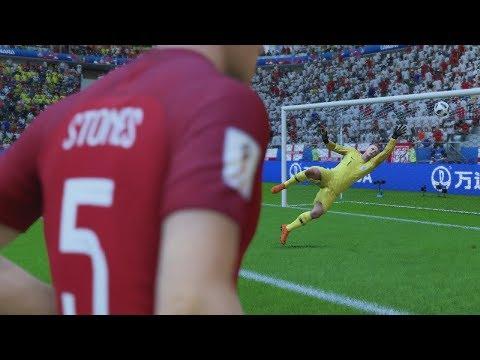 World Cup 2018 England vs Sweden - World Cup Quarterfinals Full Match First Look Quick Sim (FIFA 18)