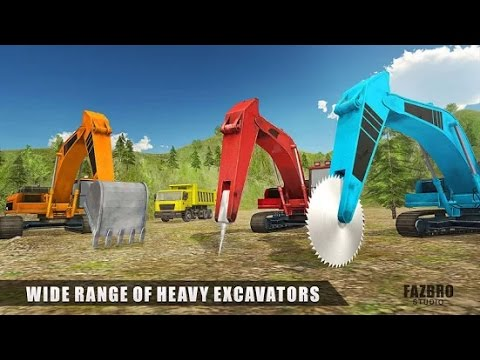 Heavy Excavator Rock Mining 3D IOS / Android Gameplay HD