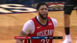 Anthony Davis was literally dunking all over the Portland Trail Bla...