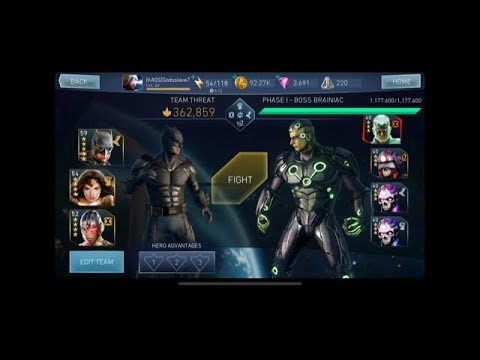 Injustice 2 Mobile Raid 3 Brainiac Strategy