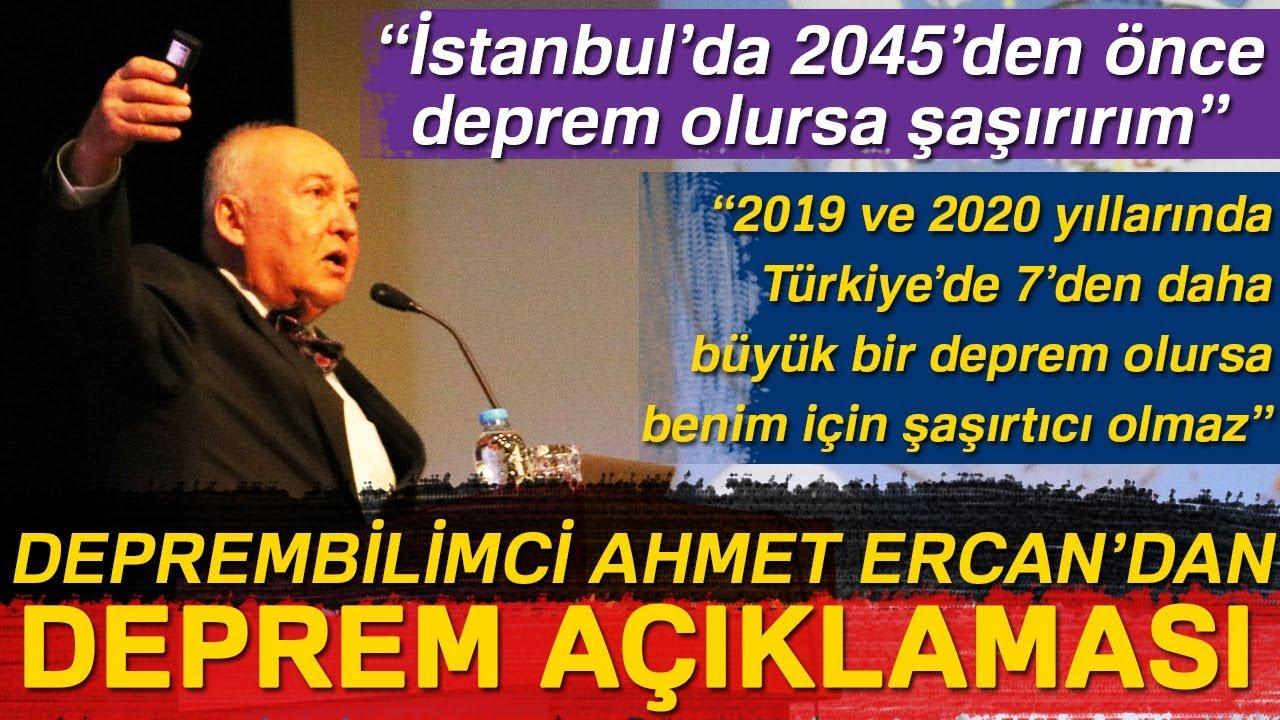 """Deprembilimci Ahmet Ercan:""""İstanbul'da 2045'den Önce Deprem Olursa Şaşırırım"""""""