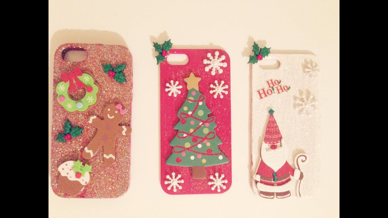 diy christmas phone case youtube