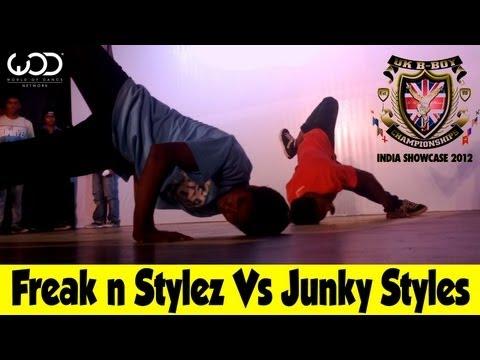 UK BBoying Championship India 2012 | Freak n Stylz Vs Junky Styles