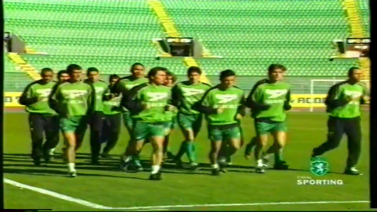 Treino do Sporting em 04/02/1999 em vésperas de se deslocar a Campo Maior