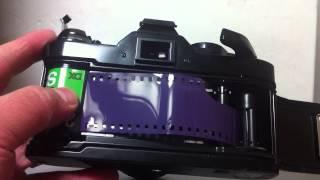一眼レフカメラ「Canon AE-1 Program」のフィルムの入れ方の件