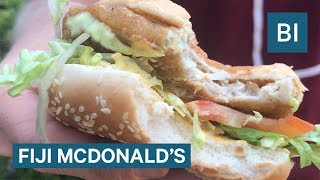 We went to a McDonald's in Fiji and ate food you can